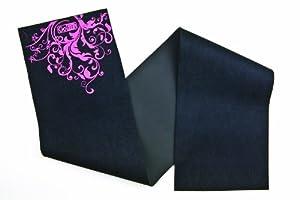 GoFit Neoprene Waist Trimmer-Full Figure with Accent Design (Black/Pink)