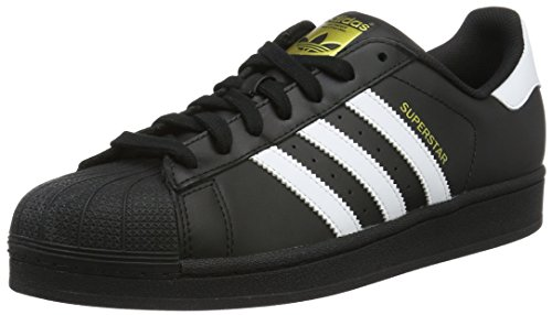 adidas originals superstar foundation mens trainers sneakers shoes (uk 9.5 us 10 eu 44, CBLACK/FTWWHT/ B27140)