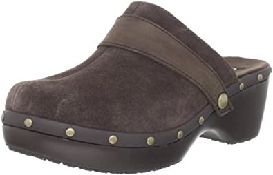 Crocs Women's Cobbler Stud Leather Clog,Espresso/Espresso,9 M US