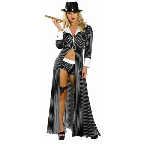 Sexy Costumes: Sexy Girls in 4 Piece Mafia Mama Costume