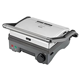 George Foreman Stainless Steel Panini/ Open Grill - PN3000T