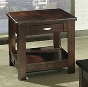 Somerton Serenity End Table in Brown