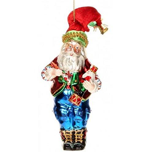 Mark Roberts Glass Christmas Ornament 36-44034 Workshop Santa