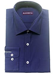 Blacksmith Men's Formal Shirt_1968096031BLSHIRTCHMBRY1_Inkblot Blue_38