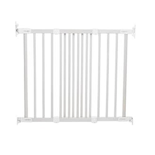 Babydan Flexifit Wooden Safety Gate (White) front-1000035