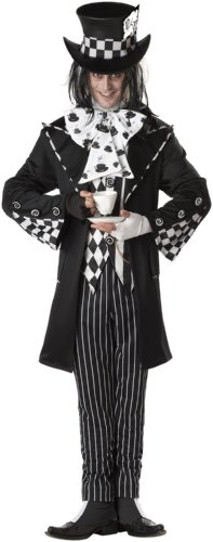 California Costumes Men`s Dark Mad Hatter Costume,Multi,X-Large