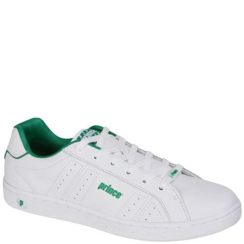 MENS CLASSIC LEATHER TRAINERS - WHITE/GREEN