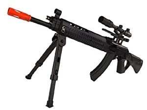 Spring JP 916A FPS-220 Bipod, Mock Scope Airsoft Sniper Rifle