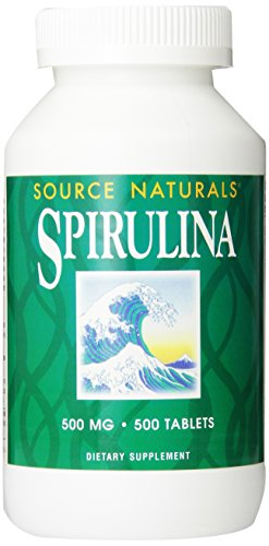 Source Naturals Spirulina 500mg, Premier Choice for Supplementing a Vegetarian Diet,500 Tablets