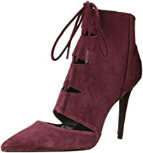 Aldo Women's ERAEDE Lace Up Shootie, Bordo Suede, 8.5 B US