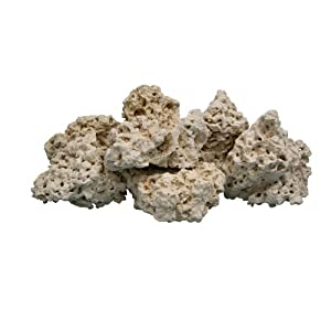 Nature's Ocean 12-Inch Coral Base Rocks for Aquarium, 40-Pound