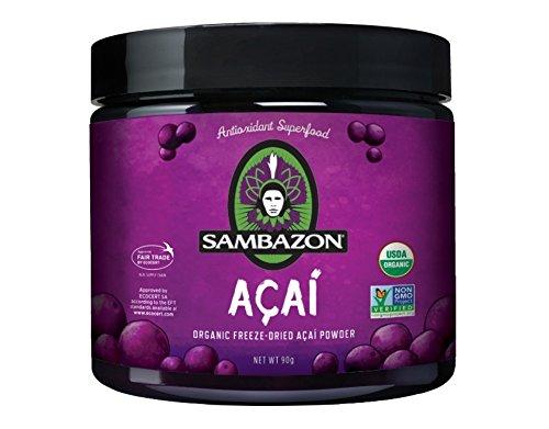 Sambazon Organic Freeze-Dried Acai Powder, 3.17 Ounce (Organic Freeze Dried Acai Powder compare prices)
