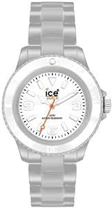 Ice Watch - CS.SR.U.P.10 - Classic Solid - Montre Mixte - Quartz Analogique - Cadran Argent - Bracelet Plastique Argent - Moyen Modèle