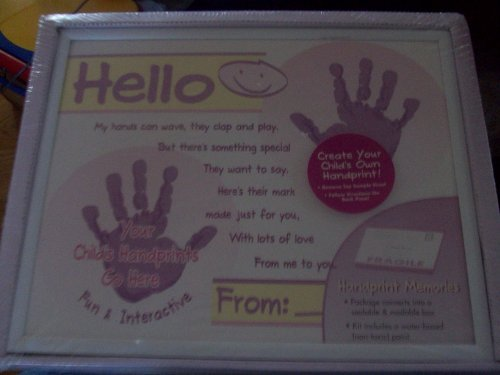Child Handprint Memories Kit and Frame