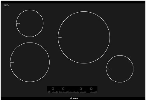Bosch 300 NIT3065UC 30&#8243; Induction Cooktop with 4 Cooking Zones, Powerful 3600 Watt Element, SpeedBoost, CountDown Timer, Overflow Detection, Child Lock, SafeStart, Anti-Overheat System and 2-Level Heat Indicator