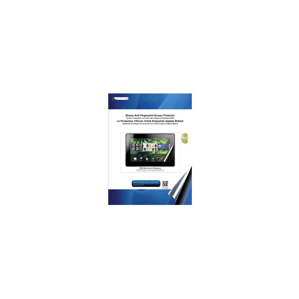 Green Onions Supply Glossy Anti Fingerprint Screen Protector for BlackBerry PlayBook (RT SPBPB701AF)