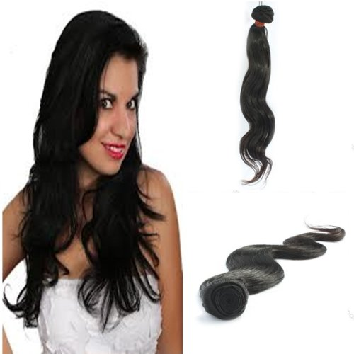 "Yesurprise Top Quality 14"" Body Wavy 100% Virgin Remy Human Hair Weave Weft Natural Black 100G"