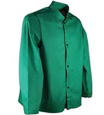 Magid 2830 SparkGuard Cotton Flame Resistant Heavyweight Jacket with Pockets, 5X-Large, Green