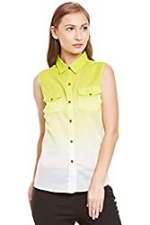 PURYS yellow & white Ombre shirt - Small