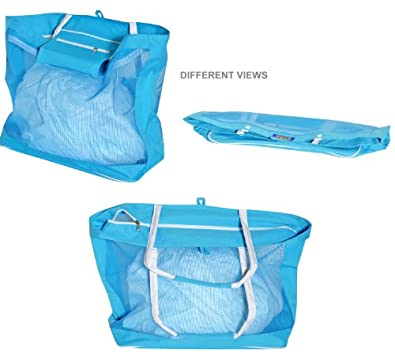 Deluxe Oversized Mesh Tote with Zipper Closure Color SC: 103