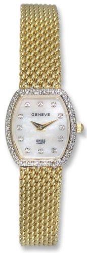 Geneve 14kt Solid Gold Diamond Womens Watch W1225C