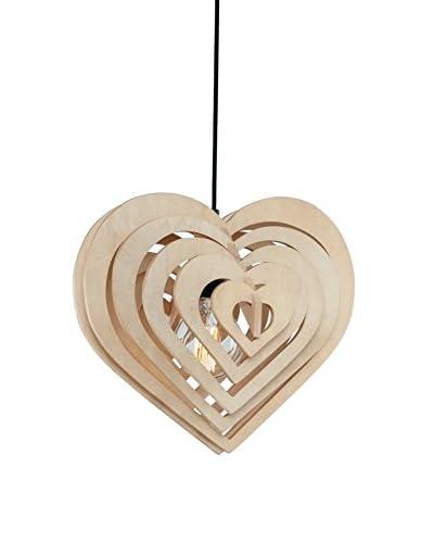 Homemania Lámpara De Suspensión Wood Nuez