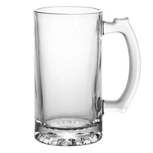 Heavy Duty Tall Glass Beverage Mug (Pack of 2) (Heavy Duty Beer Glasses compare prices)