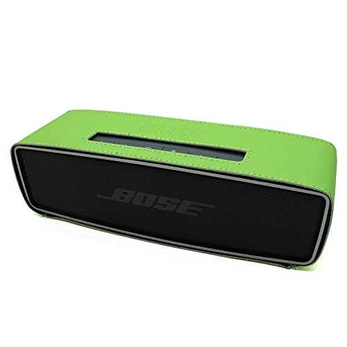 Co2Crea(Tm) Green Pu Leather Case Skin Sleeve Bumper Protective Cover For Bose Soundlink Mini Wireless Bluetooth Speaker