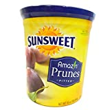 Sunsweet Amazin Prunes, Pitted Prunes Bundle, ONE 16 oz Canister of Sunsweet Dried Plums Plus