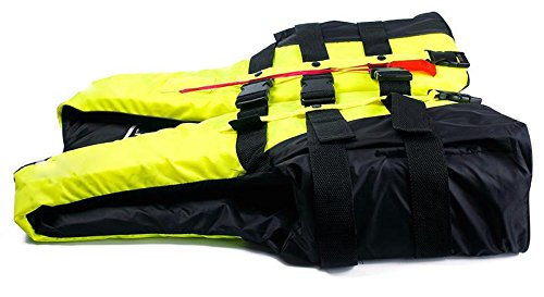 US OFTENBUY LIMITED 1Pc Adult Swimming Polyester Foam Life Jacket Adjustable Waist Design Allows People To Wear It Comfortably Fluorescent Yellow-Xl