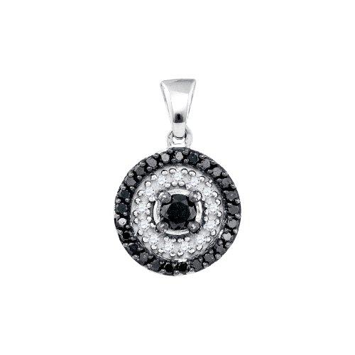 0.77Ctw Black Diamond Pendant