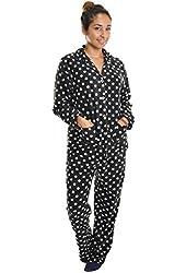 Angelina Hosiery Women's Fleece Pajama Set