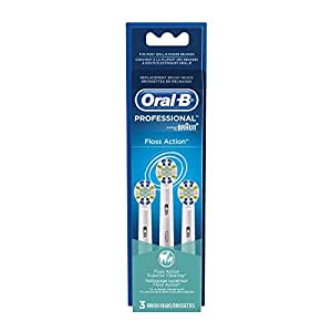 Oral-B Floss Action Replacement Electric Toothbrush Head 3 Count