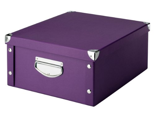 17794 Storage Box Paperboard / 40 X 33 X 17 Purple By Zeller