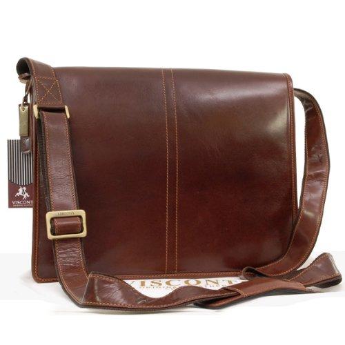Visconti Vegetable Tanned Leather Messenger Bag A4 - Workplace - VT7 - Aldo