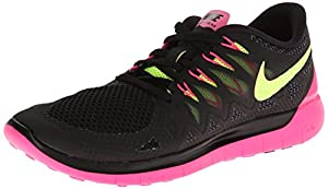 Nike Women's Free 5.0 Black/Volt/Hyper Pink/Anthrct Running Shoe 5 Women US