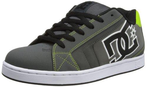 DC Shoes Mens Net M Shoe Low-Top 302361 Grey/Lime Green 12 UK, 47 EU