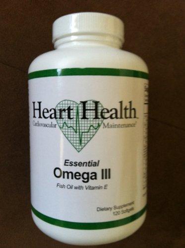 Heart healthtm essential omega iii fish oil with vitamin e for Fish oil and vitamin e