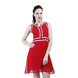 Altamoss Skater Red Women's Dress (Size-XL)