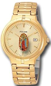 Mens Watch Pulsar PXD778CL Dress Gold Tone Guadalupe Stainless Steel Dress