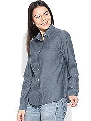 Vaak Long Sleeve Chambray Shirt Blue-XS