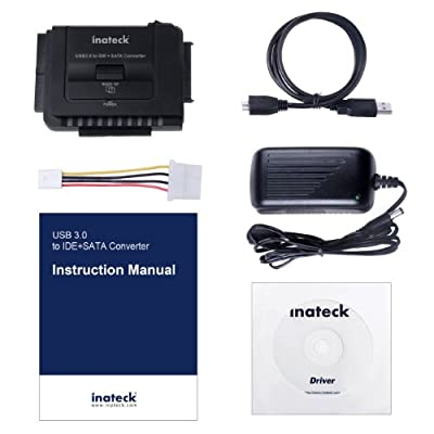 "Inateck Universal USB 3.0 to IDE/ SATA Converter Hard Drive Adapter with Power Switch for 2.5""/3.5""SATA HDD/SSD..."