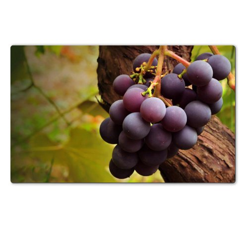 Grape Vine Nature Fresh Fruit Table Mats Customized Made To Order Support Ready 28 6/16 Inch (720Mm) X 17 11/16 Inch (450Mm) X 1/8 Inch (4Mm) High Quality Eco Friendly Cloth With Neoprene Rubber Luxlady Large Deskmat Desktop Mousepad Laptop Mousepads Comf