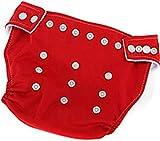 Bebé Ajustable Suave pañales pañales rojo rosso Talla:talla única