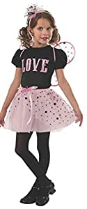 Rubies Pink and Black Love Bug Fairy Dress-Up Costume