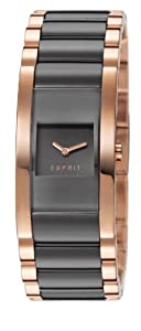 Esprit Glaze Remix Women's Quartz Watch with Grey Dial Analogue Display and Rose Gold Plated Stainless Steel Bracelet ES106582006