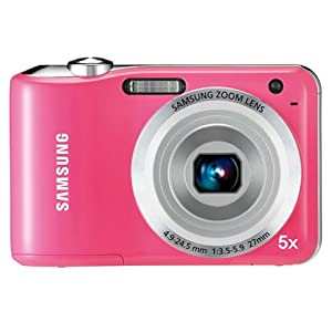 Samsung ES30 Point & Shoot Camera with 12.21MP, 5x Optical Zoom and 3 inch Screen (Pink)