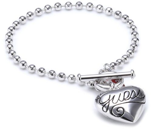 Guess bracciale cuore silver