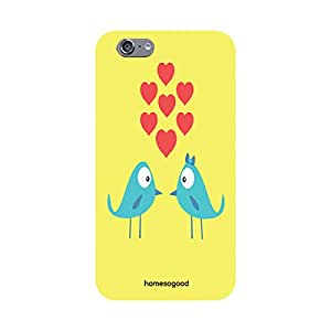 Valentine HomeSoGood Lovely Chirping Birds Yellow 3D Mobile Case For iPhone 6 (Back Cover)