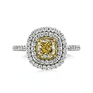 Mark Broumand 1.90ct Cushion Cut Diamond Engagement Ring